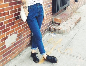 jeans blue dress denim mom jeans boyfriend jeans vintage lovely pepa indie alternative retro fashion style blogger casual