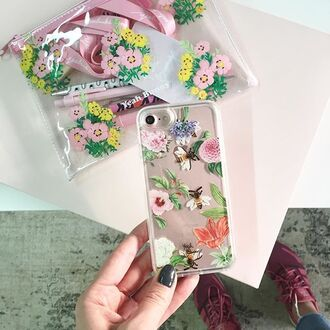 phone cover yeah bunny bee iphone8 liquid case liquid cover floral flowers liquid