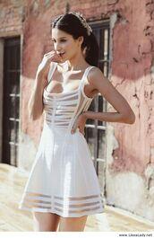 dress,pretty,aztec,white dress,gorgeous,tight,cut-out,hot,cardigan