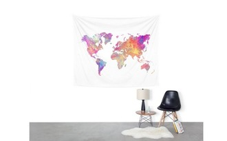 home accessory tapestry map world home decor wall decor map print