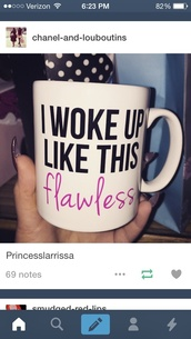 home accessory,mug,coffee,starbucks coffee,beyonce,flawless,yonce
