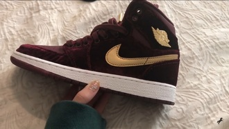 shoes nike jordan's sneakers boots heels gold burgundy tumblr
