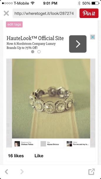 jewels vintage eternity ring bracelets bling silver bracelet jewelry vintage vintage jewelry