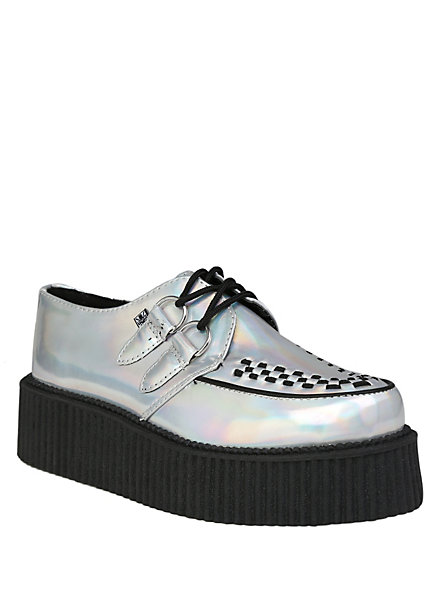 T.U.K. Iridescent Round Toe Mondo Creepers | Hot Topic