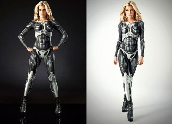 robot pants bodysuit cyborg costume
