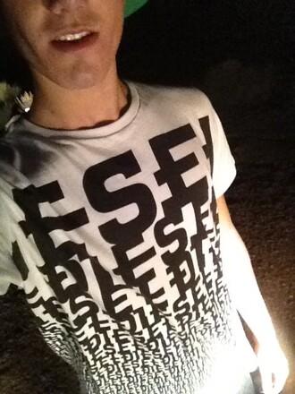 white shorts love t-shirt dress diesel guys