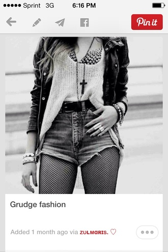 jewels grudge edgy black jacket t-shirt
