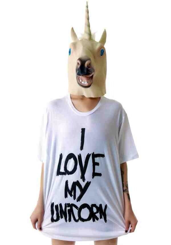 t-shirt love my unicorn oversized tee