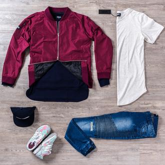 jacket bomber jacket phoenix biker jeans outfit casual streetwear