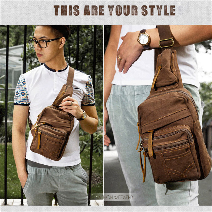 Aliexpress.com : Buy Leather Small Chest Bag Men Brand Travel Women Messenger Shoulder Bag Canvas Vintage Outdoor Crossbody Hiking Male Rucksack from Reliable bag skirt suppliers on FASHION WEEKEND