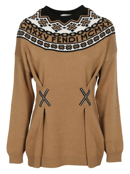 Fendi sweater knitted sweater multicolor