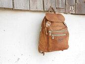 bag,vintage,backpack,leather backpack,brown leather backpack,vintage leather backpack,vintage style