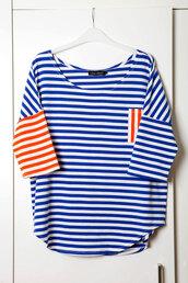 shirt,stripes,striped shirt,royal,baggy top,chipchop