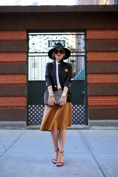 atlantic pacific skirt top jacket shoes bag sunglasses blogger