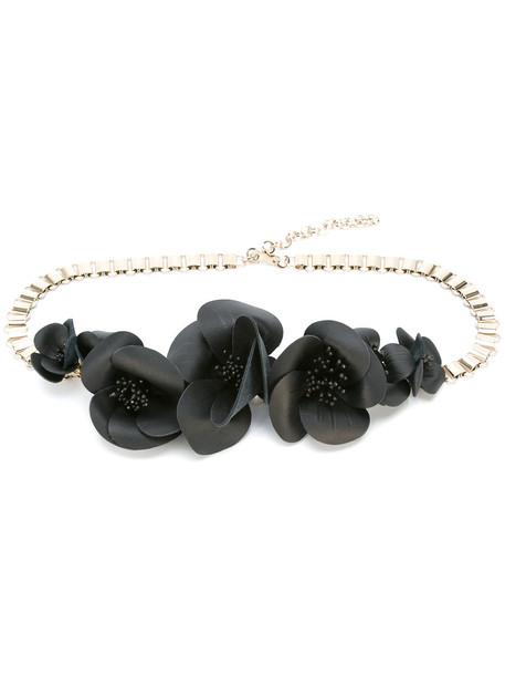 metallic belt floral