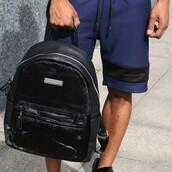 bag,maniere de voir,pony,backpack,fur,leather bag,leather backpack,black bag