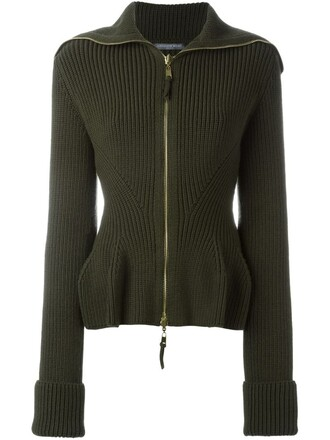 jacket peplum jacket knit green