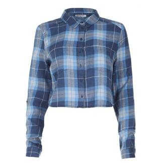 shirt plaid shirt crop tops