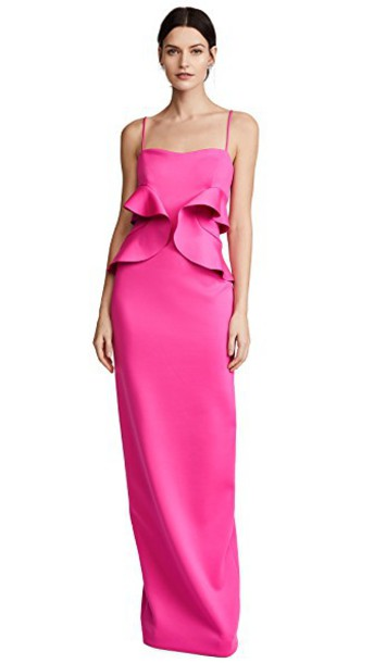 Black Halo gown pink dress