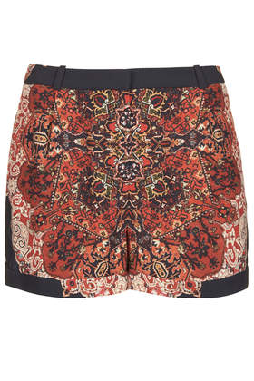Petite Folk Pattern Placement Shorts - New In This Week  - New In  - Topshop