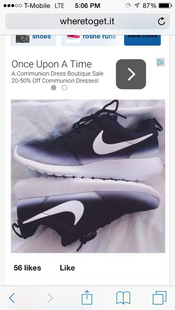 shoes nike running shoes nike roshe runs nike shoes low top sneakers black and white