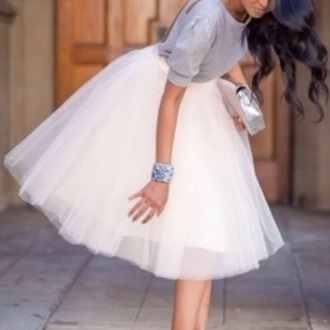 skirt white tulle skirt