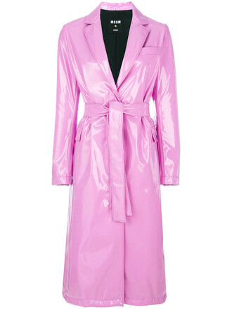 coat trench coat women spandex purple pink
