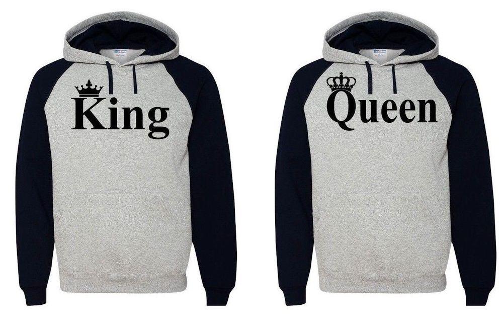 Queen Hoodie Couple Hooded Sweatshirt Boyfriend,Girlfriend Hoodie