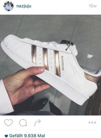 shoes adidas superstar adidas superstars gold snake instagram fashion blogher nazjuju