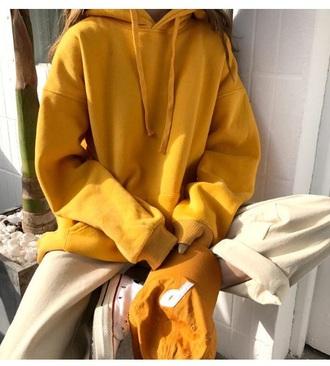 jacket girly tumblr mustard hoodie