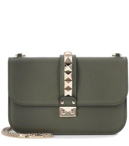 Valentino bag shoulder bag leather green