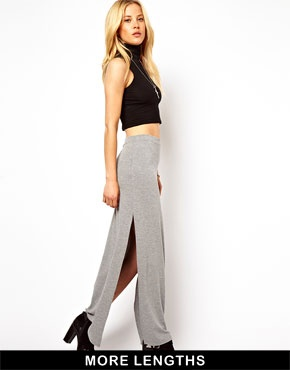 ASOS | ASOS Maxi Skirt with Splits at ASOS