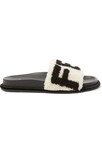 white print shoes