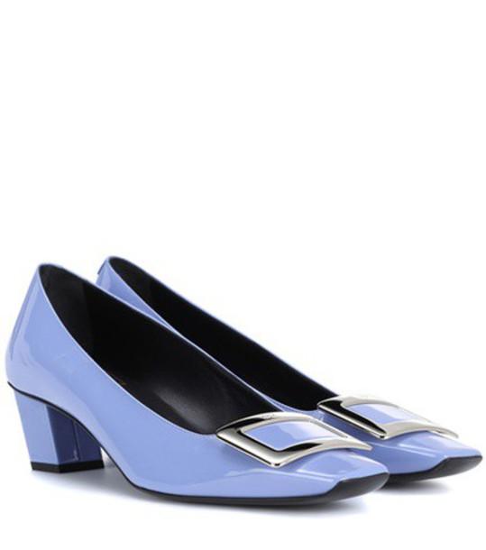 Roger Vivier pumps leather blue shoes