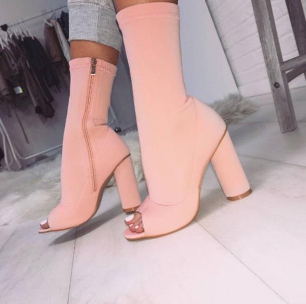 shoes peach