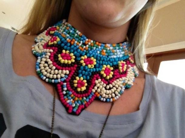 jewels boho tribal beaded collar boho choker handmade handmade necklace jewelry bib necklaces necklace boho jewelry beaded