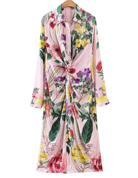 e0906296a4f4 dress midi floral floral dress bright brenda-shop midi dress colorful long  sleeve dress long