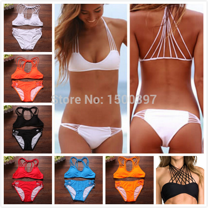 Aliexpress.com : buy 2015 woman sexy swimwear strapless banyans string racerback top bikinis set 10 colors swimsuit for women,size sml from reliable swimsuit sets suppliers on igoodbuy