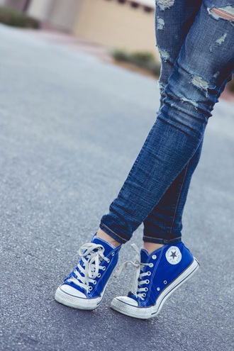 shoes blue converse