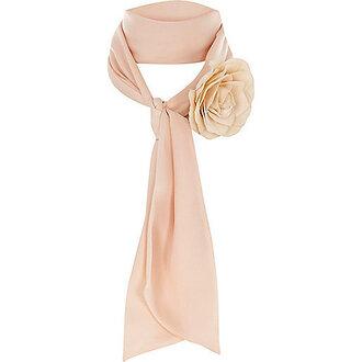 scarf blush pink flowers