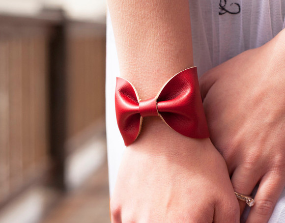 adorable jewels bow tie cuff bracelets accessory fun