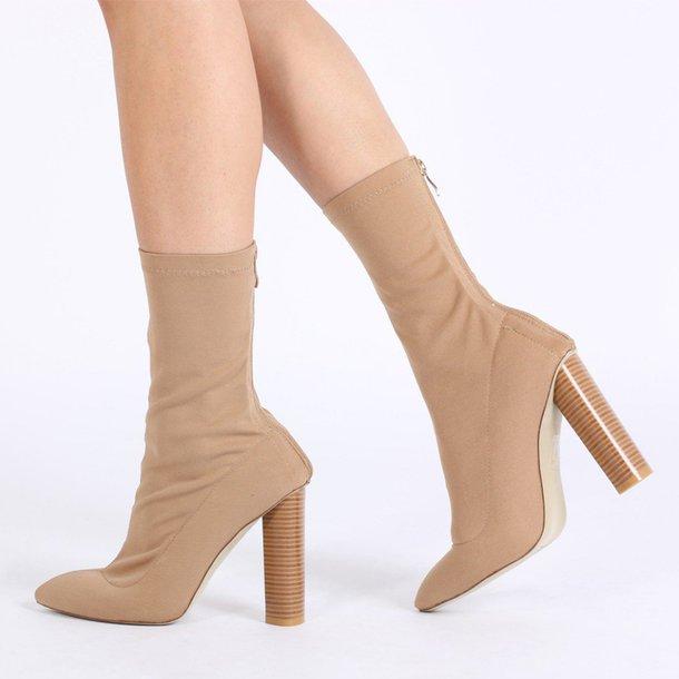 d436cf7420ab shoes boots nude sock boots public desire