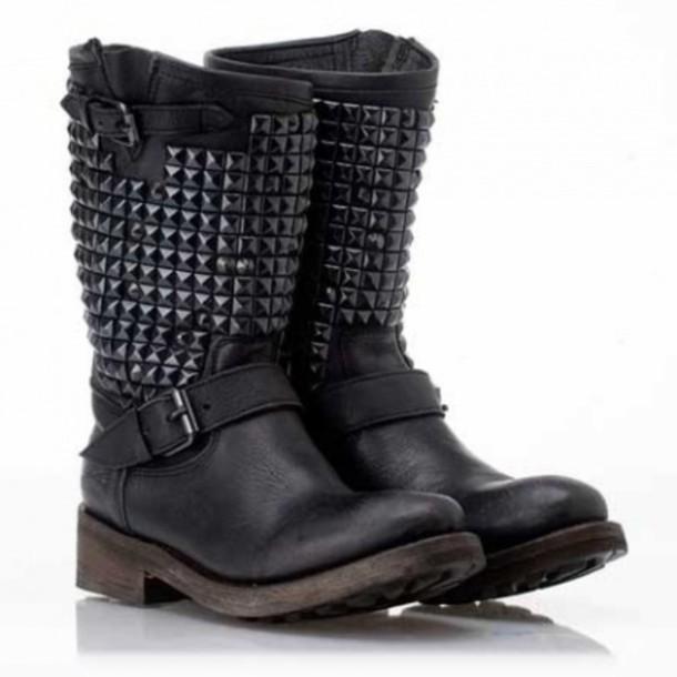 shoes boots clouté noire