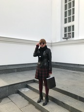 kristina magdalina,blogger,sunglasses,jacket,skirt