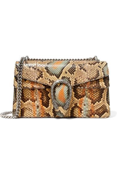 gucci snake python bag shoulder bag print snake print