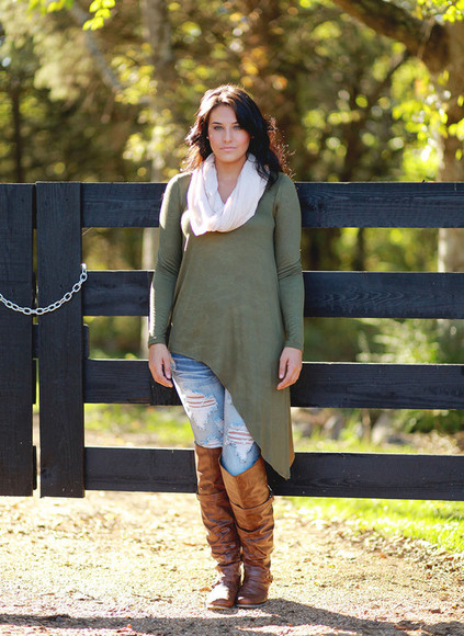jeans scarf boots fall outfits fall outfits blouse top anthropologie casual assymetrical free people urban outfitters red dress boutique