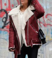 jacket,burgundy,acne studios,oversized,blouse
