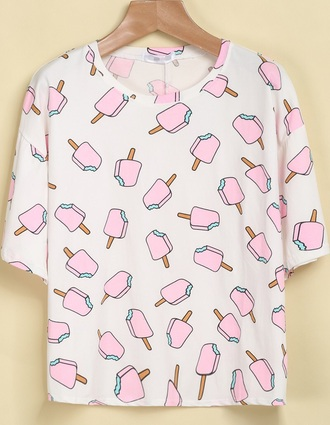 shirt hipster ice cream popsicle candy