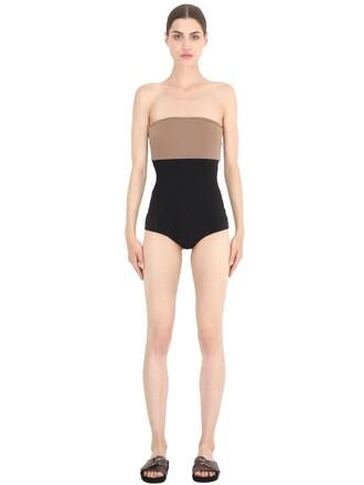 black beige swimwear