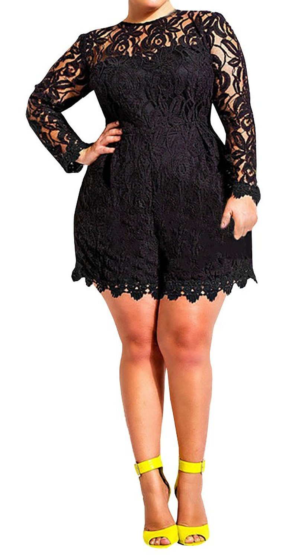 Amazon Com Lovaru Women S Plus Size Lace Mademoiselle